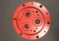 red plated CNC machined part